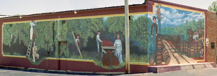 Apple Picking Mural