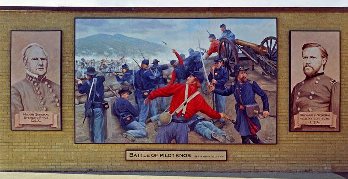 Pilot Knob Civil War Mural